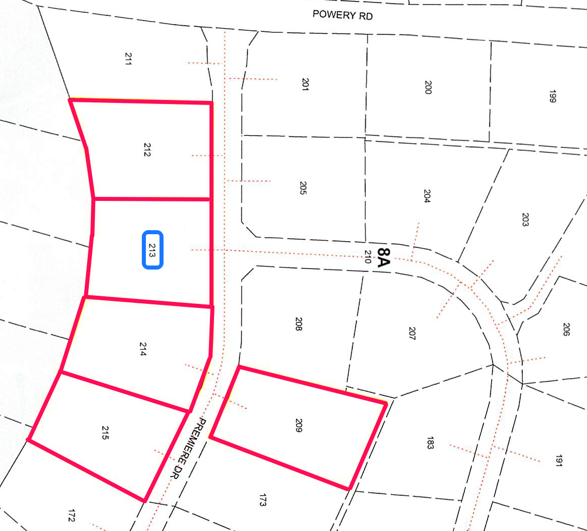Introducing West Gate Subdivision Lot #213, Premiere Dr., Powery Rd, W. B.